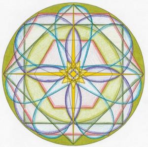 2015 Virgo New Moon Mandala © Lynn Keefer