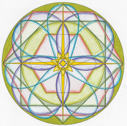2015 Virgo New Moon Mandala © Lynn Keefer