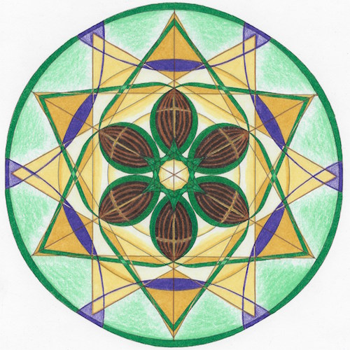 2015 Libra New Moon Mandala © Lynn Keefer