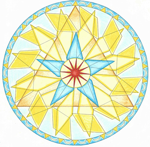 2015 Leo New Moon Mandala © Lynn Keefer
